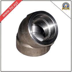 ASTM A105 45 градусов разъем сварной шов кованая сталь колено (YZF-E565)