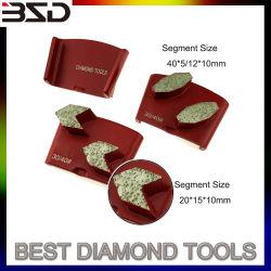 Трапецеидальный бетонный пол алмазные шлифовальные пластину