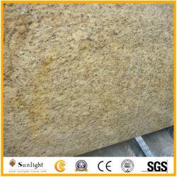 Or poli/ Giallo ornementales les carreaux de granit pour comptoir//dosseret