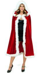 Les femmes adultes de Noël Noël Mme Santa Claus Fancy Dress Costumes Cloak