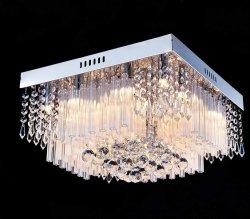 Современные K9 Raindrop Crystal люстра для утопленного монтажа светодиод потолочного освещения