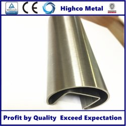 En acier inoxydable tube rond de 90 degrés la fente du raccord de tuyau coudé