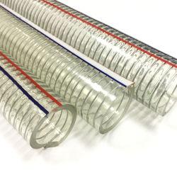 """1"""" Clear спирального провода усиленные гибкий ПВХ пластика вакуумной трубки шланг"""