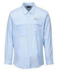 人の長い袖速い乾燥した釣ワイシャツの紫外線保護Upf 50 Polié Ster