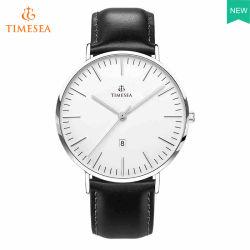 Het Klassieke Horloge van mensen met Zwarte Riem 72637 van het Leer