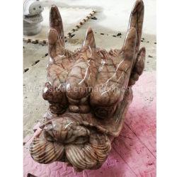 Натуральный камень красного гранита Dragon скульптуры для ландшафтного сада