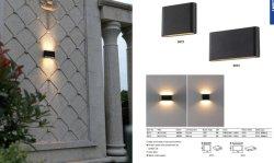 Jardim exterior de alumínio 12 W luz de parede LED