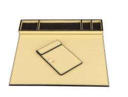 Het Stootkussen van het Bureau van het Leer van Faux, A4 de Blocnote van het Document, Samenkomend Stootkussen (PB047)