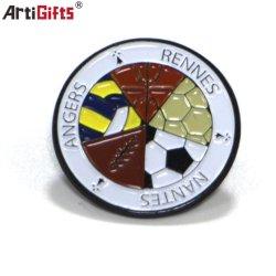 Бесплатный образец логотипа металлический штырь эмблемы