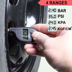 Auto Gomme manometri per auto Motorcile Bike misuratore di pressione pneumatici Manometro per pneumatici con portachiavi digitale Mini