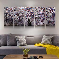 3D Ambacht van de Kunsten van de Muur van de Decoratie van het Huis van het Olieverfschilderij van de Boom van de Fee van het Metaal Moderne