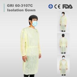 Medical de plástico impermeable/CPE/Poly/PE/Scrub/Operación/PP Ropa Non-Surgical de aislamiento de alta calidad de aislamiento de la bata de hospital Medical
