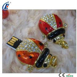 Coccinella septempunctata Bijoux/diamant lecteur Flash USB (DJ-0104)