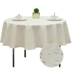 방수, 물세척 가능한 패브릭 테이블 직물, 연회, 호텔 웨딩 라운드 테이블
