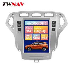 Tela Tesla Android Market 9 leitor de DVD para automóveis Ford Mondeo Fusion Mk4 2007-2010 Gravador de rádio de navegação GPS veicular a unidade de cabeça