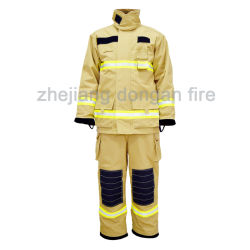Огнеупорные огнестойкости пожарного Fr защитную одежду куртки, брюки с отражающей лентой в Workwear