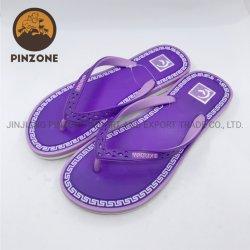 Púrpura à prova de moda de PVC de fundo plano Flip-Flops