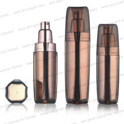 زجاجة فارغة من رمل الأكريليك من الشركة المصنعة مع غطاء شفاف سعة 15 مل 30 مل 60 مل 100 مل