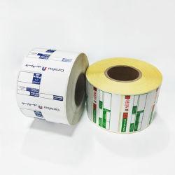 Adhésifs autocollants au format personnalisé supermarché étiquette de prix de l'impression Étiquette de code à barres