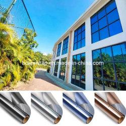 نافذة انعكاسية درجة اللون في اتجاه واحد إطار خصوصية التحكم في الحرارة من الفينيل ملصق الحماية من الشمس يمنع المرآة ملصقات الزجاج المضادة للأشعة فوق البنفسجية لمدة المكتب المنزلي