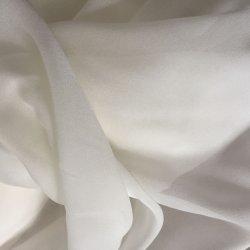 Tejido de seda pura 100 Geogette Textiles 8m/m blanco