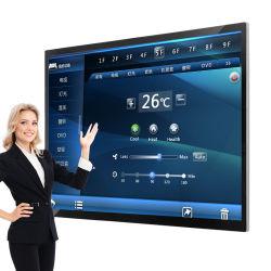 高性能の大きいサイズ65デュアルシステムが付いているインチの壁の台紙のタッチ画面4Kのコンピュータ