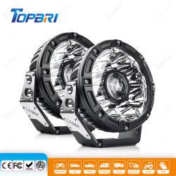 24 В автоматический режим работы лампы круглый светодиодный индикатор дальнего света лазера для прицепа автомобиля мотоцикла