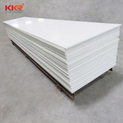 Kkr Modified Acrylic Big Slab White Corian Modified Solid Surface Sheet Thickness 12~30mm