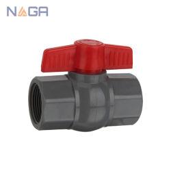 나사산 PVC 플라스틱 물 팔각볼 밸브 DIN 영국 동성 소켓