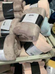 オーバーストック安いストックロットクリアランスソフトソリッドカラープリントフランネルポーラー コーラルフリースシュパーラブランケット