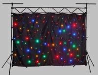 LEIDENE van de Matrijs van het Gordijn van de Ster van Ledj Fonkelende Doek met Volledige Kleuren 4*6m van de Mengeling RGBW RGB Achtergrond van de Ster
