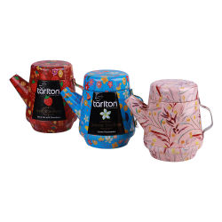 Grau alimentício forma bule de chá de metal personalizada pode canister, caixa de embalagem de alimentos, Dom Package