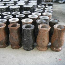 Granite rosso Rounded Vase per Graves