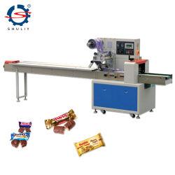 Automatischer Horizonal Nahrungsmittelkissen-Typ, der Verpackungsmaschine mit Tellersegment einwickelt
