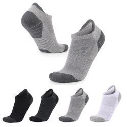 Kundenspezifisches Tief kürzte unsichtbarer Boots-Socken-Mann-Knöchel-Socken-Baumwollsport-Unisexweiß