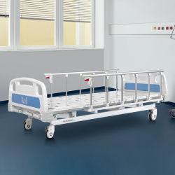 A3K Metal 3 التدوير 3 وظائف الأثاث الطبي القابل للضبط الطي سرير يدوي لمستشفى التمريض المريض مع آلات تحميص