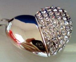 Crystal Heart USB-Flash-Laufwerk/Jewelrry USB-Flash-Disc