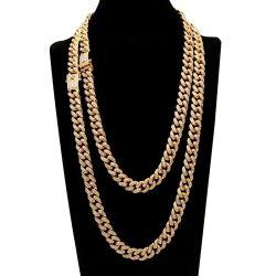 Оптовая торговля модной кубинского пользовательские моды Diamond 18k позолоченными контактами/925 серебристые/нержавеющая сталь/хип-хоп тонкой подвесной украшения подарок цепь женщин имя цепочка