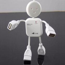 超小型人の形の極度の速度USB 2.0の4ポートのハブ