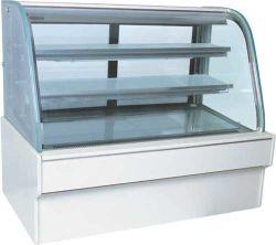 Heißer Verkauf 2 Schicht Weißen Marmor Körper Anzeige Kühlschrank Kuchen Kühlraum für Kühlschränke mit Kühlfach, luftgekühlt, mit CE