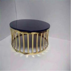 صنع وفقا لطلب الزّبون [ستينلسّ ستيل] [كفّ تبل] نوع ذهب لون معدن طاولة قاعدة