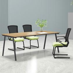 Moderno mobiliário comercial forte a madeira maciça 4 Pessoa Office Mesa de conferência