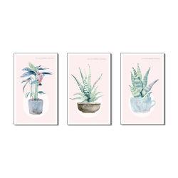 Plantas envasadas de pinturas dotes criativos para Decoração de parede