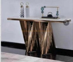 Hochzeits-Ereignis-Dekor-Tisch-Marmor-Oberseite-Tisch- für Systemkonsolevortrag sprechen Stadium in metallhaltigem