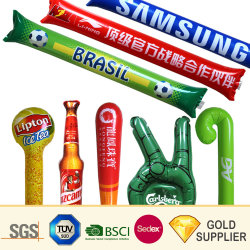 Custom Air gonflable promotionnel Clapper ballon LED Stick d'encouragement de la publicité 80cm de long en plastique solide PVC PE Fleuret Clap Bang Bang Bam Bam titulaire Thunder Stick