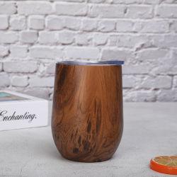 木/大理石のコーティングの倍の壁のステンレス鋼のコーヒーカップはコーヒー・マグの木製のワインのマグ水転送のコーヒーカップを絶縁した