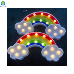 "Bela ""arco-íris"" Luz noturna LED luz decorativa da mesa"