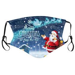 크리스마스 인쇄 인공호흡기 조정가능한 귀 거는 인공호흡기 Breathable 방진 스모그 증거 가면