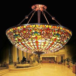 """UL genehmigte 27 """" die barocke Tiffany Decken-hängende Lampe für Hotel-Landhaus mit Buntglas"""