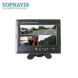 7인치 쿼드 분할 화면 디지털 컬러 LCD 후면 보안 백업 후방 차량 모니터